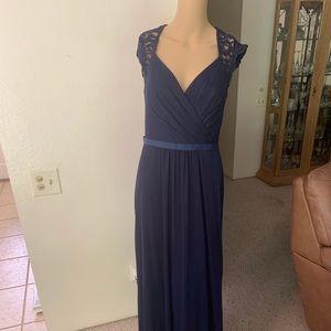 David's Bridal Beautiful Blue Dress